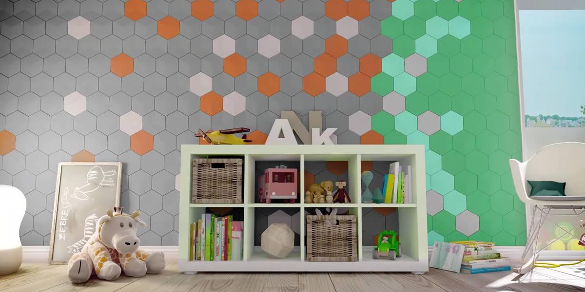 pannelli 3d rivestimento pareti stanza bambini